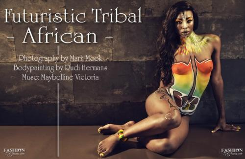 Fashion Shoot: Futuristic Tribal African by Mark Mook (Holland)